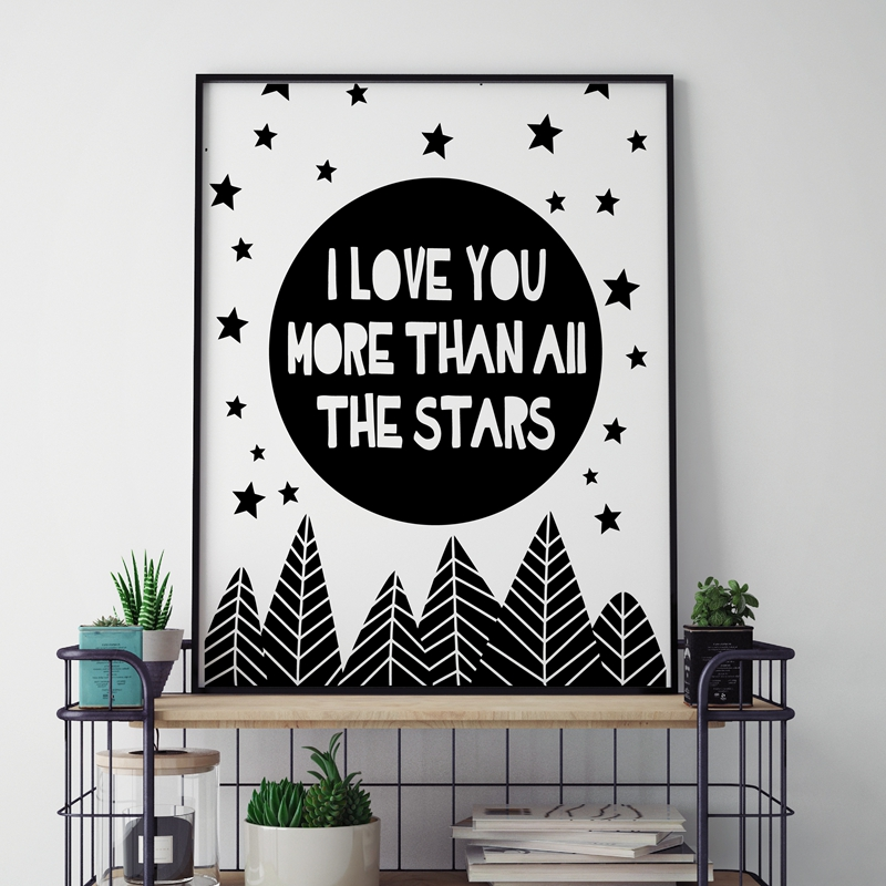 Aliexpress.com : Buy Nursery Quotes I Love You More Than All Stars ...
