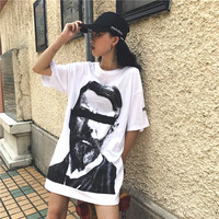 TREND Setter 2017 Summer Harajuku White T Shirt Women Letters Print Casual Tops BF Style Long