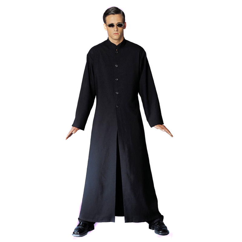 Free shipping Cybe Man The matrix Halloween costume Black robes cosplay-in Zentai from Novelty u0026 Special Use on Aliexpress.com | Alibaba Group  sc 1 st  AliExpress.com & Free shipping Cybe Man The matrix Halloween costume Black robes ...