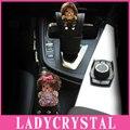 Ladycrystal Diamond Обезьяна Стайлинга Автомобилей PU Кожаный Рычаг Переключения Передач Крышка Девушки Дамы Женщины Авто Аксессуары Для Украшения Интерьера