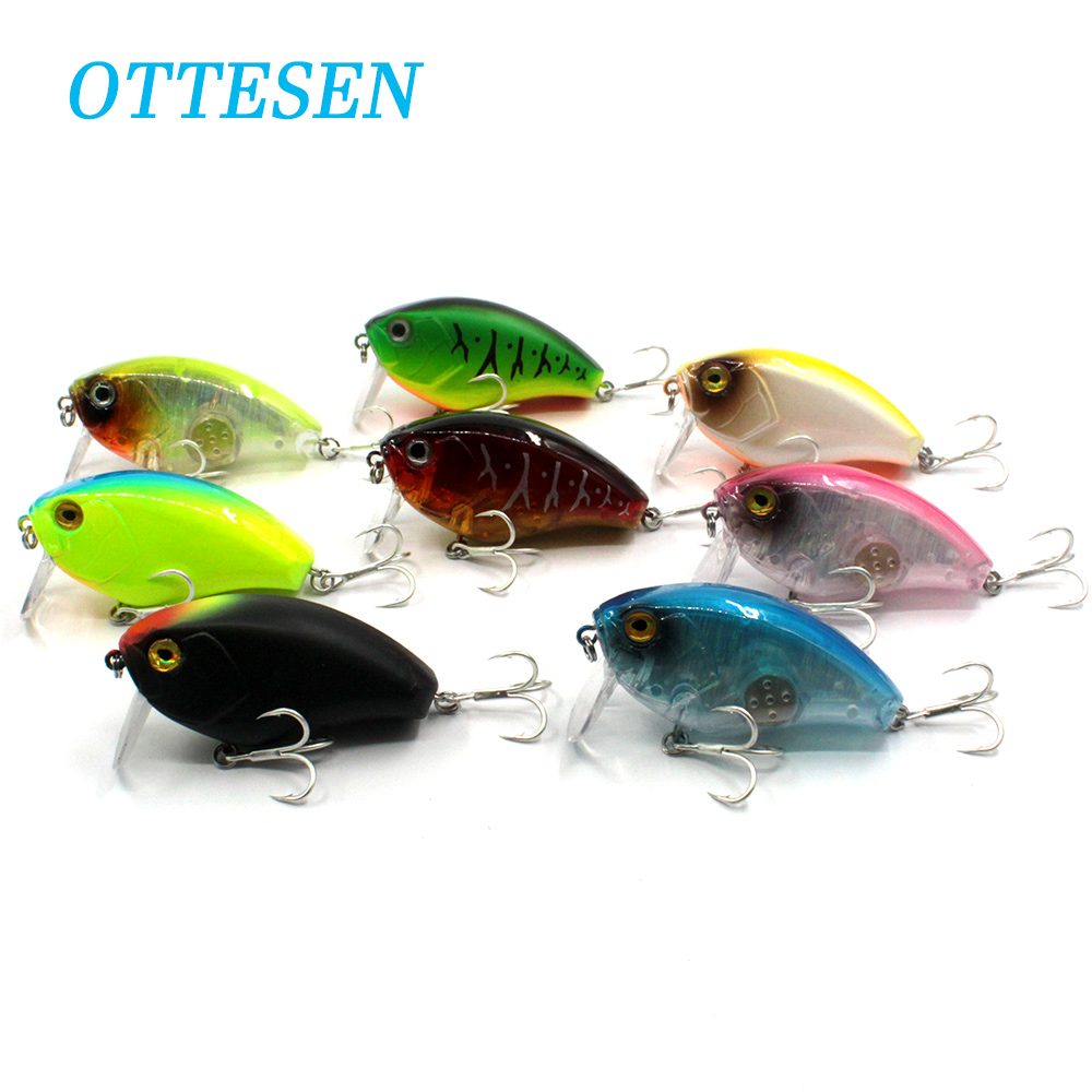 OTTESEN 1pcs/lot 63mm 17g crankbait fishing lure jerkbait hard plastic lure deep diving isca artificial bass leurre peche pesca