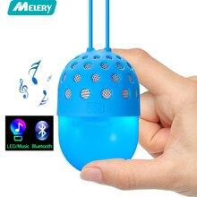 Melery Mini Bluetooth Speaker Luz LED Colorido À Prova D' Água Sem Fio Bluetooth Alto-falantes Portáteis Ao Ar Livre para Crianças Meninos Meninas