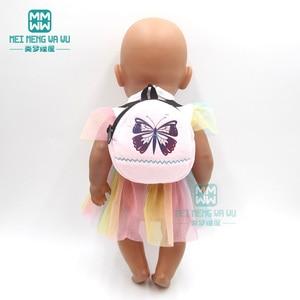 Image 4 - ملابس لل دمية صالح 43 سنتيمتر المولود الجديد دمية الكرتون أفخم ظهره