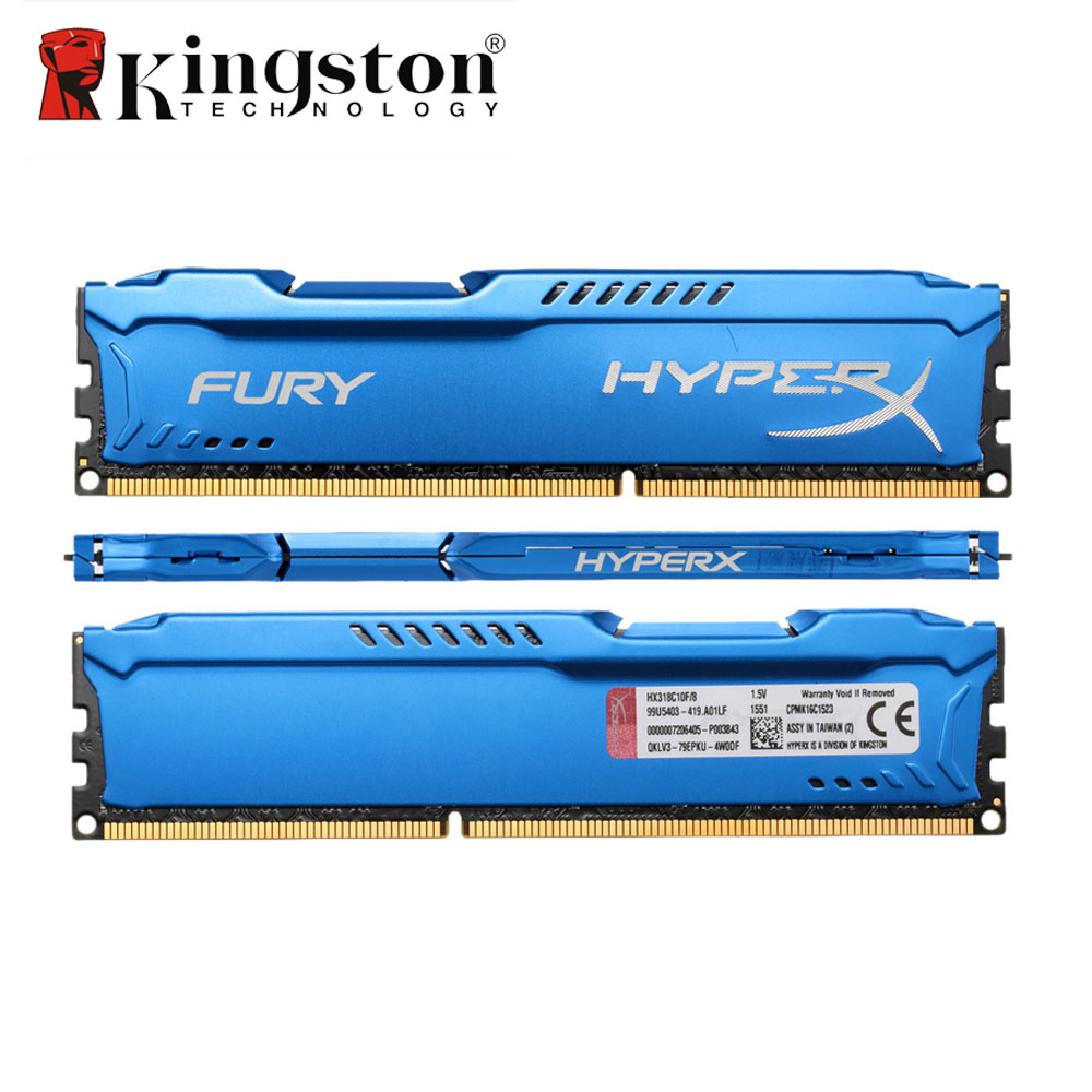 Kingston HyperX FURY Memoria Memory DIMM DDR3 4GB 8GB 1866MHz RAM CL10 1 5V 240 Pin