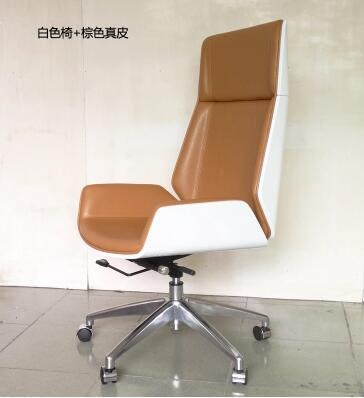 The study is chair of large chair bent wood leather boss High back manager staff meeting office chair study of pose