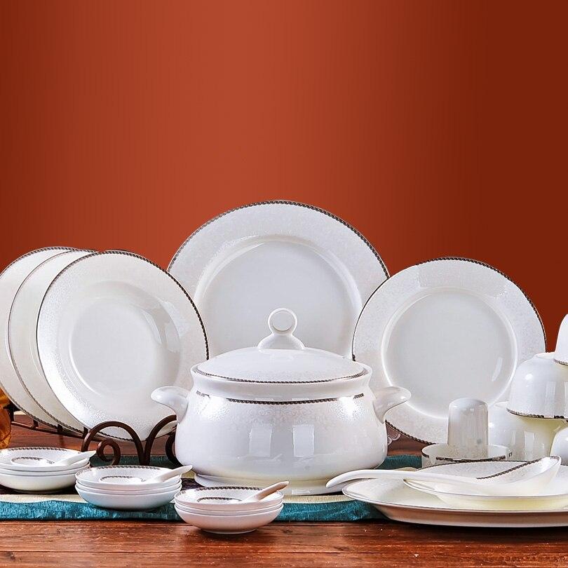 Livraison gratuite ceram assiettes ensemble de haute qualité en céramique 56 pièces vaisselle ensemble chine vaisselle ensemble
