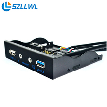 USB3.0 аудио на передней панели 19 pin 20pin к USB3.0 + HD-AUDIO 3.5 аудио адаптер дисковод передней панели