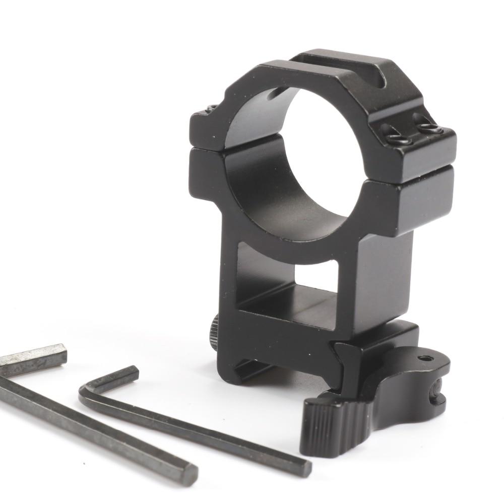 2pcs//lot Hunting 30mm Scope Mount QD 20mm Picatinny Adapter Weaver 63mm Barrel