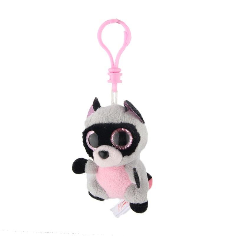 Elsadou Ty Beanie Боос большие глаза плюшевый енот брелок игрушка кукла TY подарок для маленьких детей