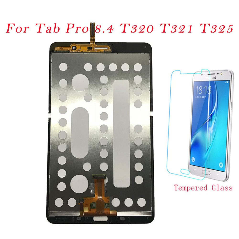 Test Tablet LCDs For Samsung <font><b>Galaxy</b></font> <font><b>Tab</b></font> <font><b>Pro</b></font> <font><b>8.4</b></font> SM-T320 T321 T325 <font><b>LCD</b></font> Display Touch Screen Digitizer Frame Assembly T320 T321 image