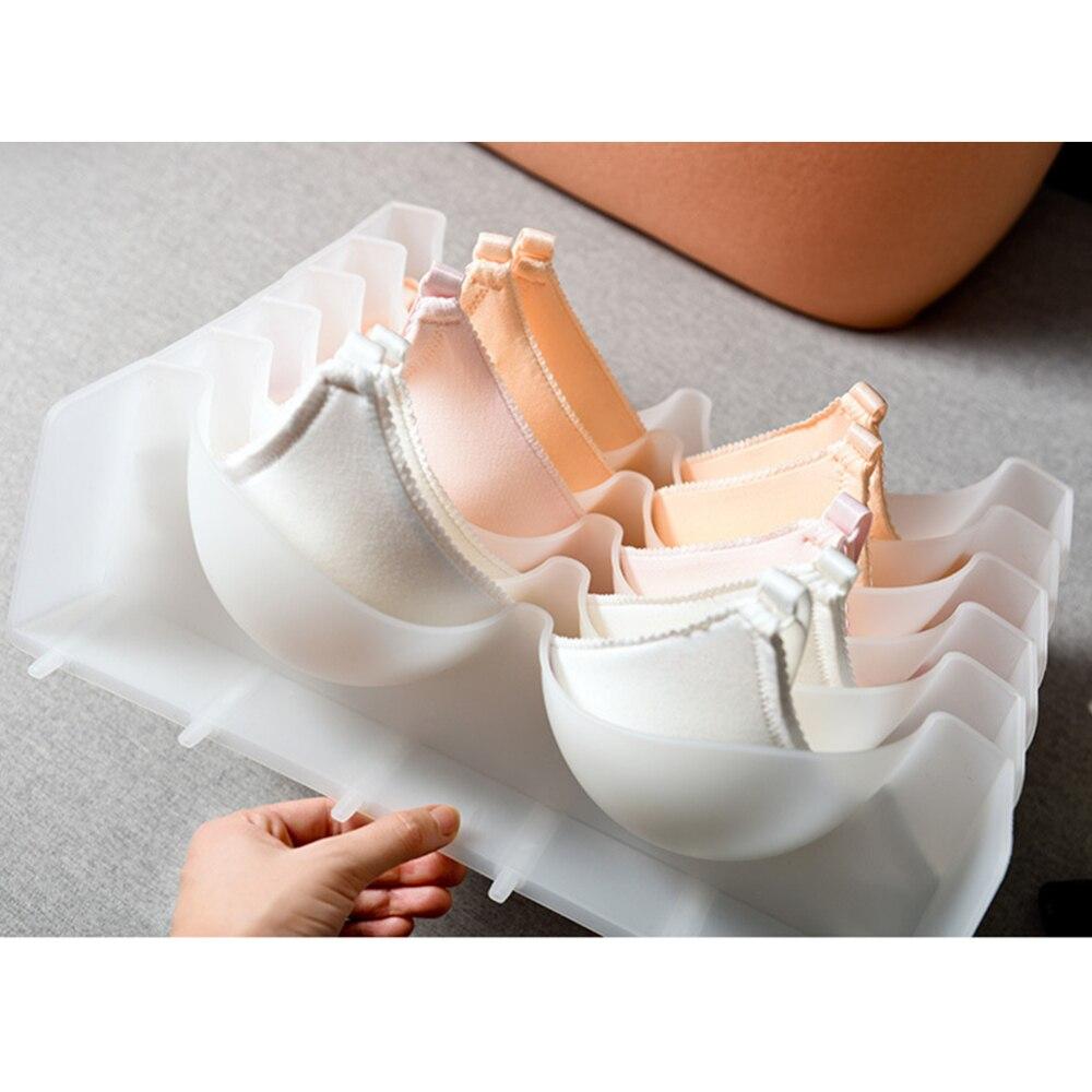 6pcs Multi-Size Bra Underwear Organizer Foldable Home Storage Box Non-Woven Wardrobe Drawer Closet Organizer For Underwear