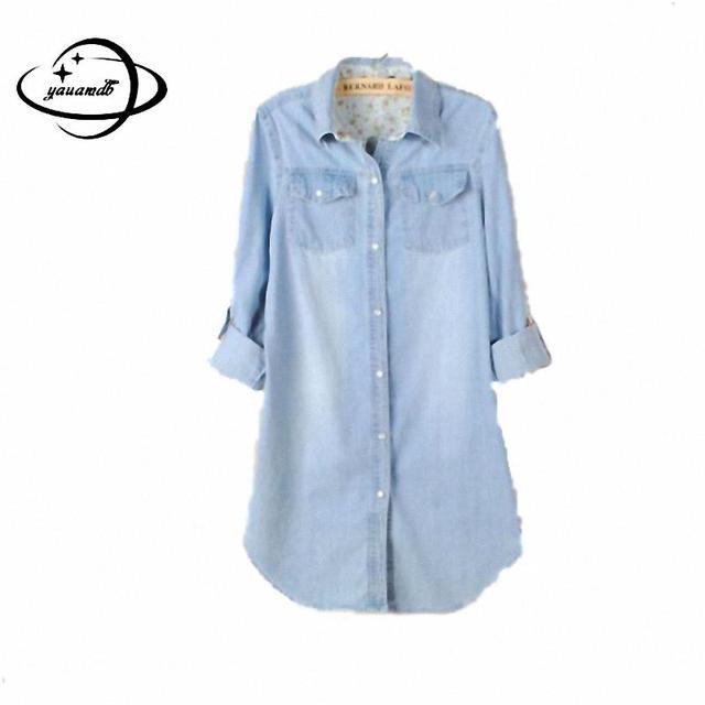 a9e62a21744 Yauamdb женская одежда 2016 Модель на весну и осень женская рубашка женская  блузка Повседневное рубашки