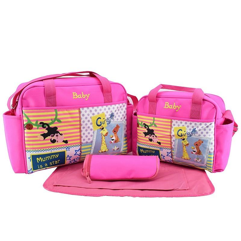 MOTOHOOD 4pcs Baby Diaper Bag Sets For Mom Cute Animal Baby Stroller Bag Organizer Fashion Maternity Bags Handbags For Moms (7)