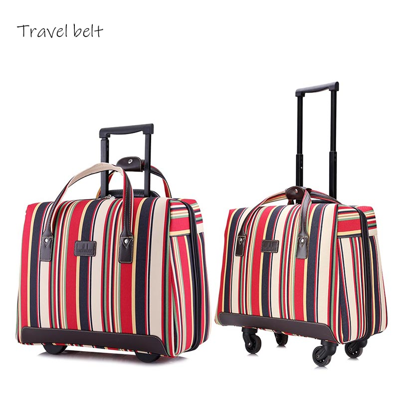Travel Belt  multicolor oxford Rolling Luggage Spinner 18 inch  Boarding Suitcase Wheels Carry On Travel BagsTravel Belt  multicolor oxford Rolling Luggage Spinner 18 inch  Boarding Suitcase Wheels Carry On Travel Bags