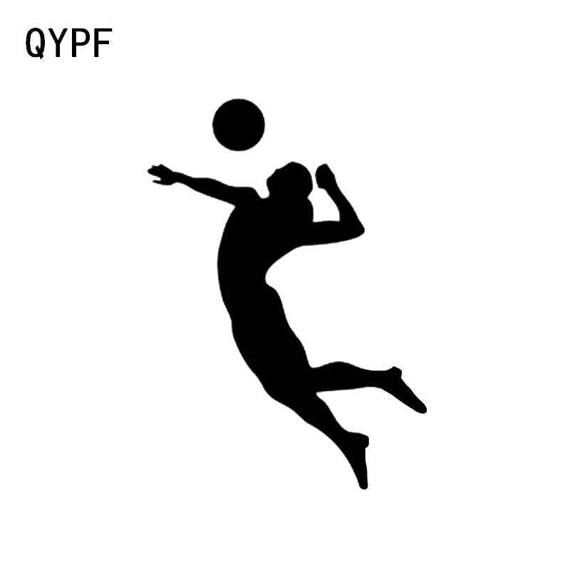 QYPF 11.3*15.8CM Volleyball Player Sports Girl Beach Car Stickers Vinyl High Quality Accessories C16-1347