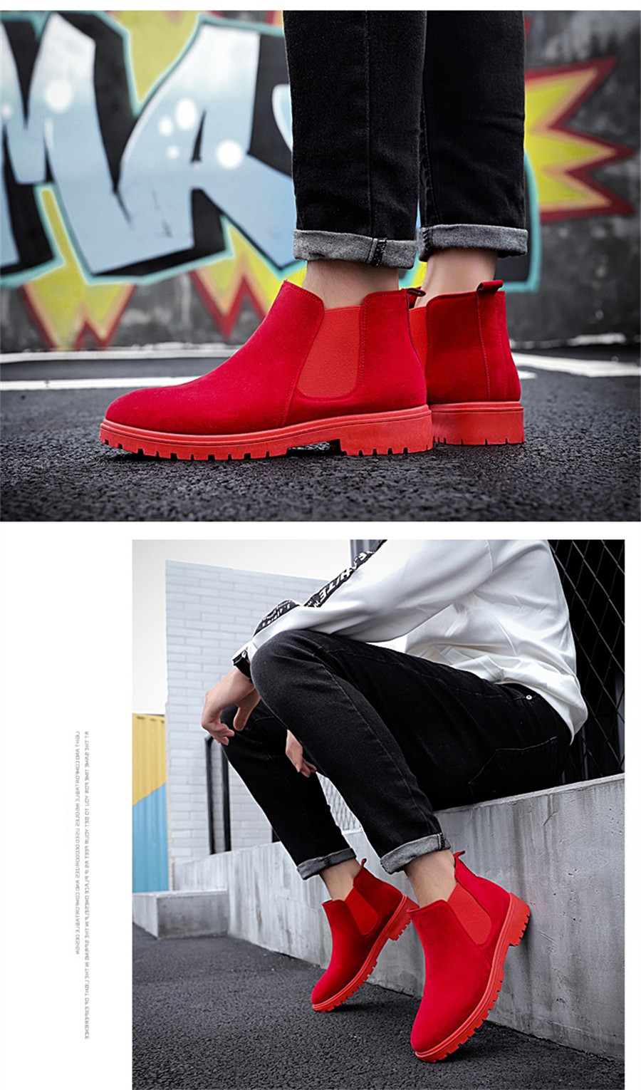 PINSV Chelsea Boots Men Shoes Ankle Boots Men Cow Suede Leather Boots For Men Trendy Autumn Shoes Bota Masculina 10