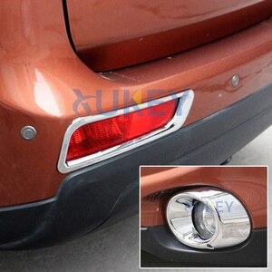 Image 5 - Para Mitsubishi Outlander 2013 2014 cromo delantero trasero antiniebla Luz de niebla cubierta de la lámpara ajuste Protector de parachoques decoración de coche estilo
