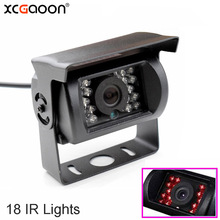 XCGaoon Universal Wide Angle Car Rear View Camera Waterproof With 18 IR LED Night Vision for