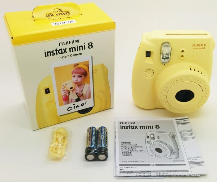 Free Shipping Fujifilm Instax Mini 8 Instant Film Photo Camera Yellow Blue White Black Pink Purple Gift In From Consumer