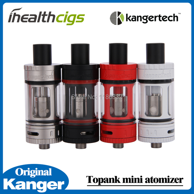 100% Original Kanger Toptank Mini Atomizer 4.0ml Top Refilling Sub Ohm Tank with Delrin Drip Tip 4 colors