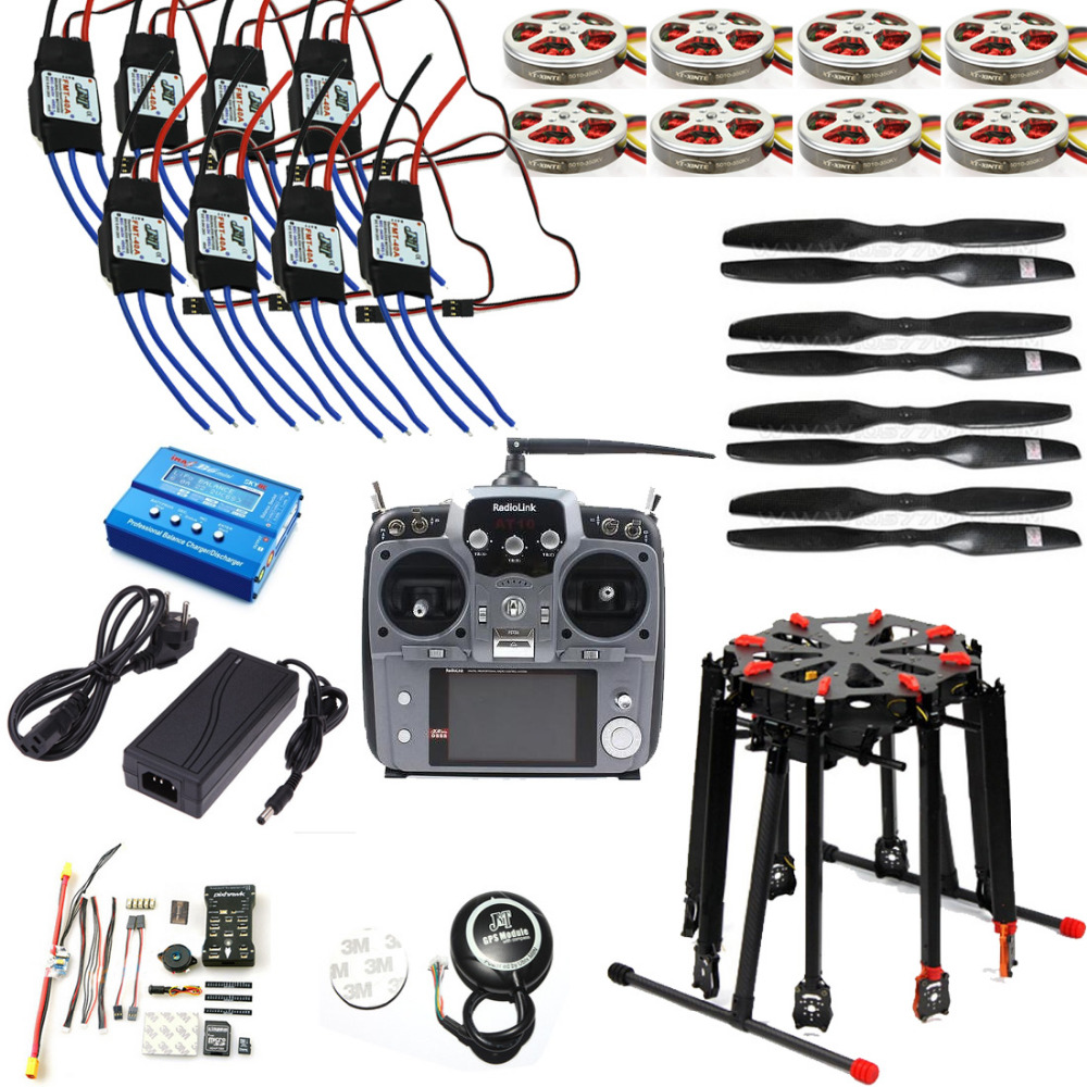 8-Axle Octocopter Drone Kit With Electronic Retractable Landing Skid