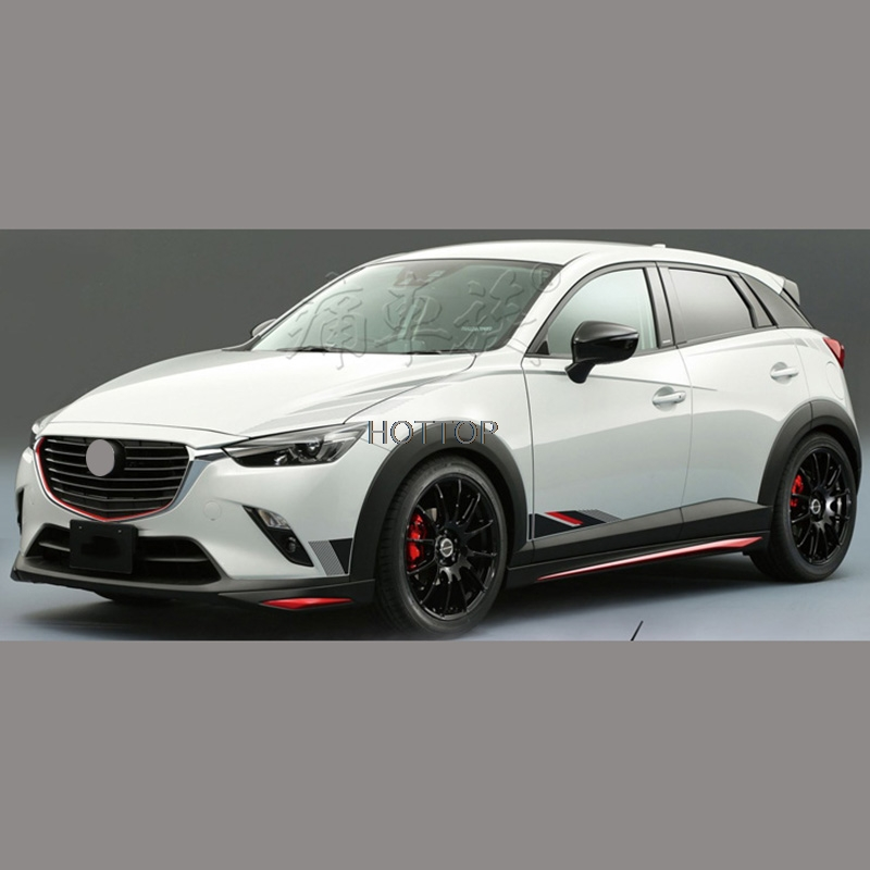HOTTOP  Sport Style Car Body Decal Car Stickers For MAZDA 2 3 6 CX-3 CX-5 AXELA ATENZA 2016 2017 Both Side Sticker Car-styling