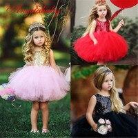 Платья принцессы с блестками для девочек, Летнее бальное платье для маленьких девочек, детские праздничные платья для девочек, 2019