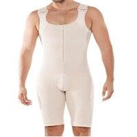 S 6XL Slim Fitness Mens Push UP Bodysuit Body Shaper Bodybuilding Tight Jumpsuit Romper Corset Modal Boxer Slimming Underwear