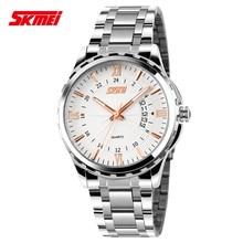 skmei watch 9069 quartz watch,high quality relogio masculino wristwatch,stainless steel watches custom your own logo
