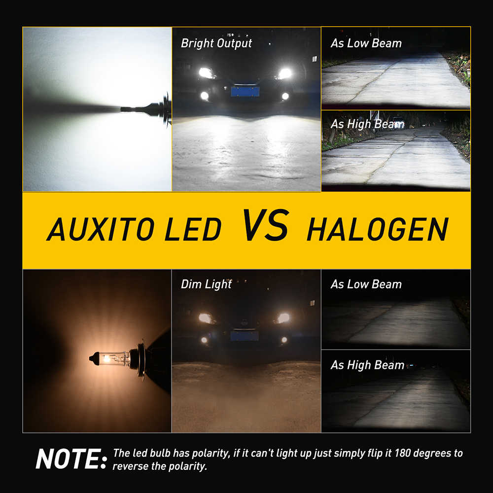 H4 LED H11 H7 9005 9006 LED Turboไฟหน้าCSP 6000K DRL Fog LightสำหรับHonda Accord CRV civic Fit City Jazz Insight
