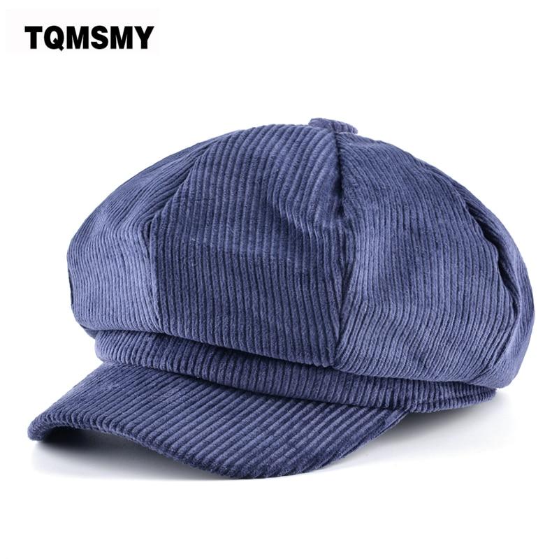 beaa4aeb01942 TQMSMY Unisex Octagonal hat men autumn corduroy fabric gorras planas men s  Newsboy Cap women solid color hats for men Berets