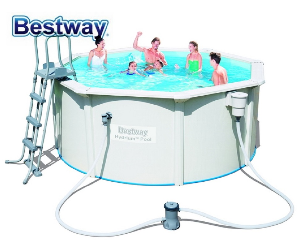 Frame Pool Bestway Us 499 56563 Bestway 300 120cmhydrium Pool 10x12 Round Frame Swimming Pool For Family Outdoor Above Ground Pool Plus Filter Ladder Mat In Pool
