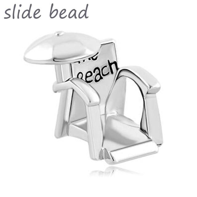 Fit Pandora Charm Bracelets Beach Chair Umbrella Lucky Charms