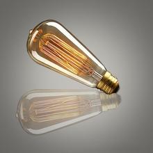 Диммируемая лампа Эдисона 40 Вт 220-240 В Ретро винтажный светодиодный светильник со спиральной нитью 2300-2700K ST64 винтажный светильник Эдисона