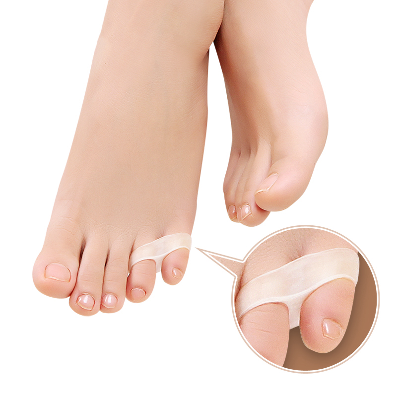 1Pair Pad On The Toe Little Thumb Silicone For Daily Use Toe Bunion Corrector Gel Guard Straightener Finger Toe Separator Foot