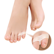 1Pair Pad On The Toe Little Thumb Silicone For Daily Use Bunion Corrector Gel Guard Straightener Finger Separator Foot