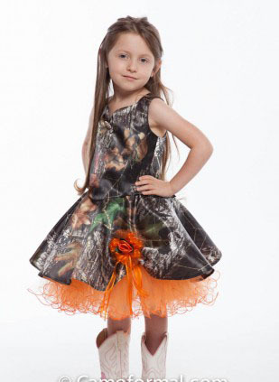 cd214362e66 free shipping 2017 new style short girls kids pageant gowns camo flower  girl dresses