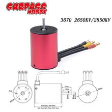 SURPASSHOBBY KK 3670 2650KV/2850KV Brushless Motor for GTR/Lexus 2S 1:10 3S 4S 1:8 RC Drift Racing Off-road Car Truck Sensorless hot sale surpass hobby 4268 2650kv 4 poles sensored brushless motor for 1 8 rc racing car truck truggy on road