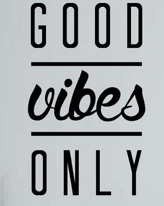 Yoga Inspirierende Typografie Vinyl Wandtattoo Good Vibes Nur Yin