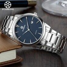 Starking Brand męski zegarek kwarcowy importowany zegarek z mechanizmem japońskim stal nierdzewna 316l Auto data moda męski zegarek na co dzień BM0972
