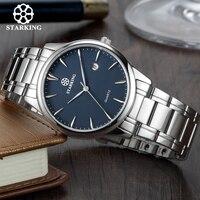 Starking marca relógio de quartzo masculino importado japão movimento relógio 316l aço inoxidável data automática moda casual masculino bm0972