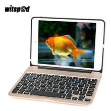 Witsp@d Mini bluetooth Keyboards for iPad Mini 4 Keyboard Case with Backlit Slim Aluminum Protective Clamshell Case Cover