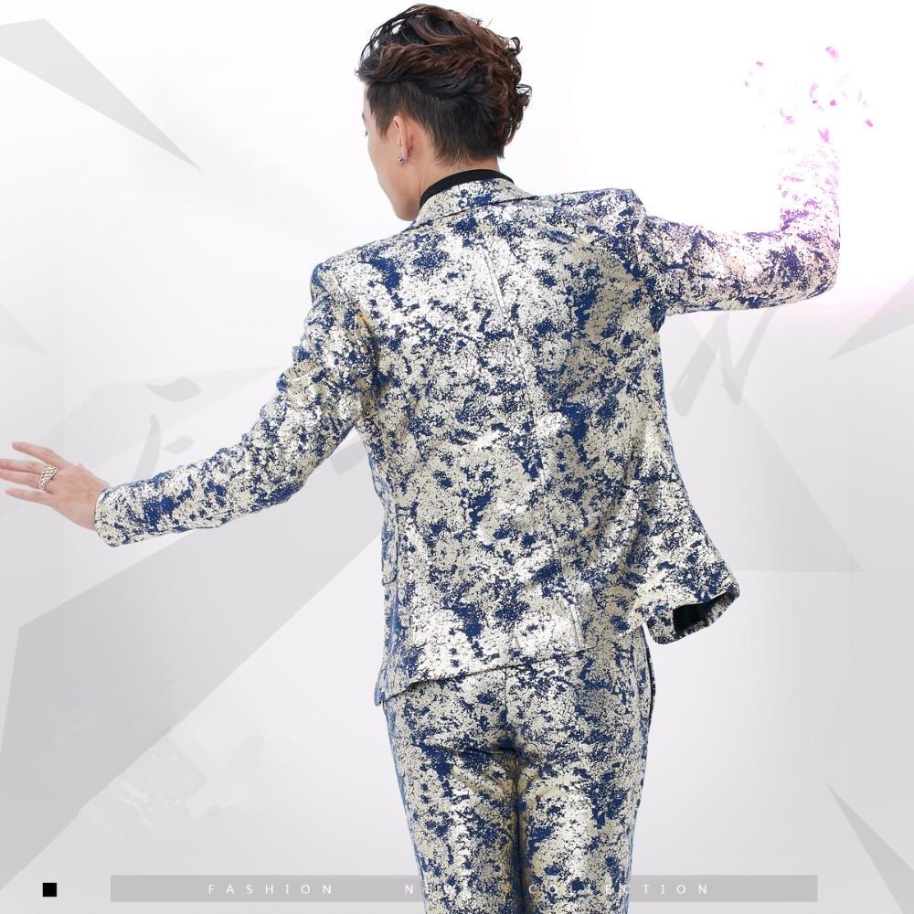Chanteur De Costume Blazers Bal Vest Pant Tenue Vest Style Slim Spectacle Angleterre pant Scène Parti Étoiles jacket jacket Vocal Ds Costumes Concert Mâle Impression Mode Formelle qxv0xtHzw