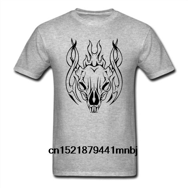 d26177c3b Men T shirt Cow Skull With Tribal Flames unisex funny t-shirt novelty tshirt  women