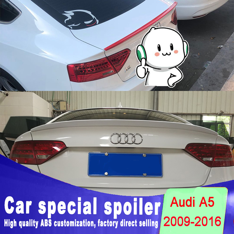 new design high quality ABS for Audi A5 4Door spoiler by 2009 2010 2011 2012 2013 2014 2015 2016 rear spoiler DIY color paintnew design high quality ABS for Audi A5 4Door spoiler by 2009 2010 2011 2012 2013 2014 2015 2016 rear spoiler DIY color paint