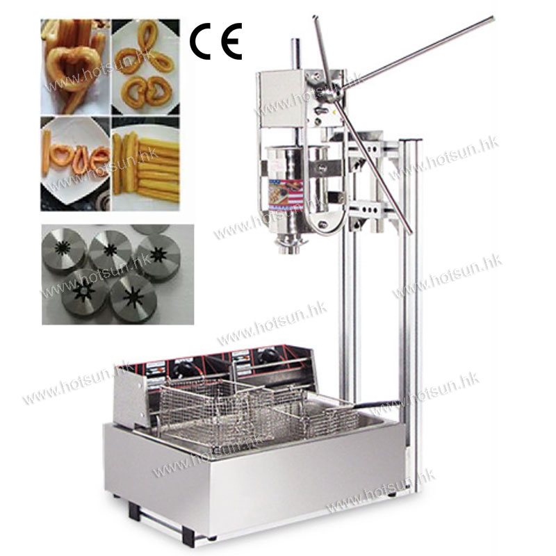 3 in 1 3L Manual Churro Machine + Working Stand + 12L Deep Fryer free shipping commercial manual spanish 6l gas fryer churro churrera fryer maker machine