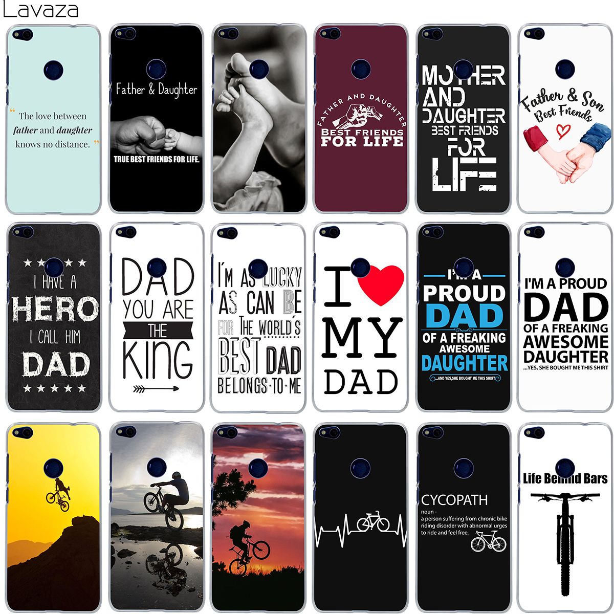 Lavaza Family Daddy And Daughter Son Im A Proud Dad Case for Huawei Honor Y6 10 9 8 7x 6a 6c Lite Pro 2017