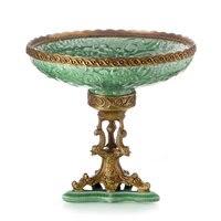 Роскошная мебель для гостиной, тарелка для фруктов, креативная вставка из европейской керамики, медные декоративные украшения, миска для фр