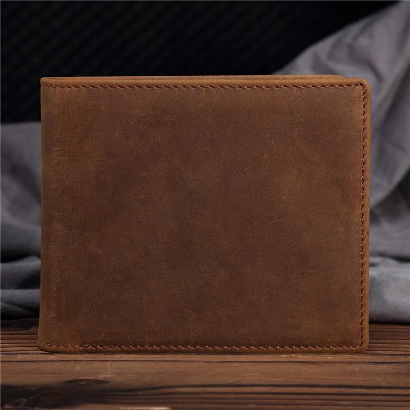 YISHEN férfi pénztárca valódi bőr férfi rövid pénztárca kártya tartó Vintage retro bőr férfi kis pénztárca Carteira férfi pénztárca B199