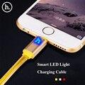 НОСО Марка 2 M Цвет 8Pin Данных Кабель Зарядного Устройства Для iPhone 7 6 s 6 Плюс 5S для iPad Интеллектуальное LED On/Off Зарядки кабель